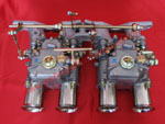 Twin Weber carburettor linkage kits