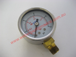 Chrome Fuel Pressure Gauge (0-15 PSI) (bottom)